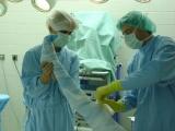 Operace kyčelního kloubu - Rouškování končetiny