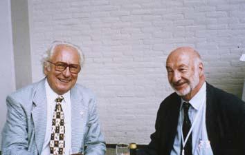 Prof. O. Čech a Prof. B. G. Weber